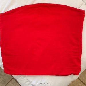 Red brandy Melville tube top